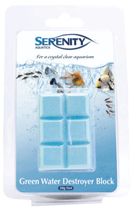 Serenity Green Water Destroyer Block for Aquariums 20g