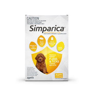 Simparica for Puppies/Small Dogs 1.3 to 2.5kg  - 3 pack