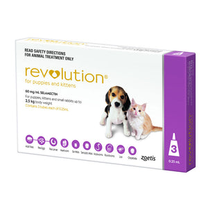 REVOLUTION for Puppies & Kittens 0-2.5kg 3's