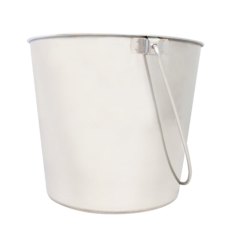ZEEZ Stainless Steel Round Bucket Pail