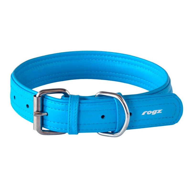 Rogz Soft Leather Pin Buckle Collar