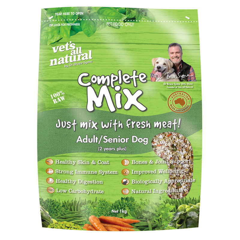 Vet's All Natural Complete Mix - Adult/Senior Dog