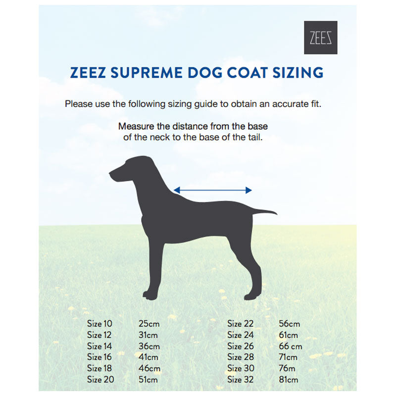 ZeeZ Supreme Dog Coat - Oilskin/Black