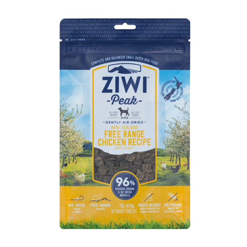 Ziwi Peak Air Dried Free Range Chicken for Dogs