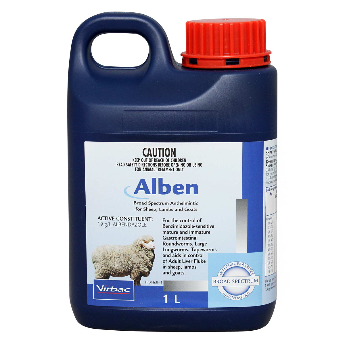 Virbac Alben Drench for Sheep, Lambs & Goats 1L