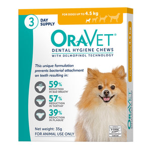 OraVet Dental Hygiene Chews for Dogs up to 4.5kg