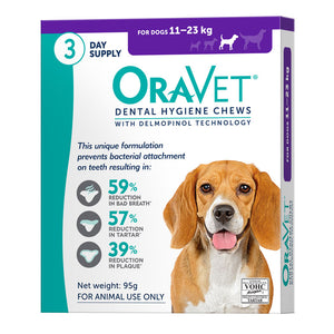 OraVet Dental Hygiene Chews for Dogs 11-23kg