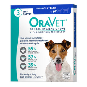 OraVet Dental Hygiene Chews for Dogs 4.5-11kg