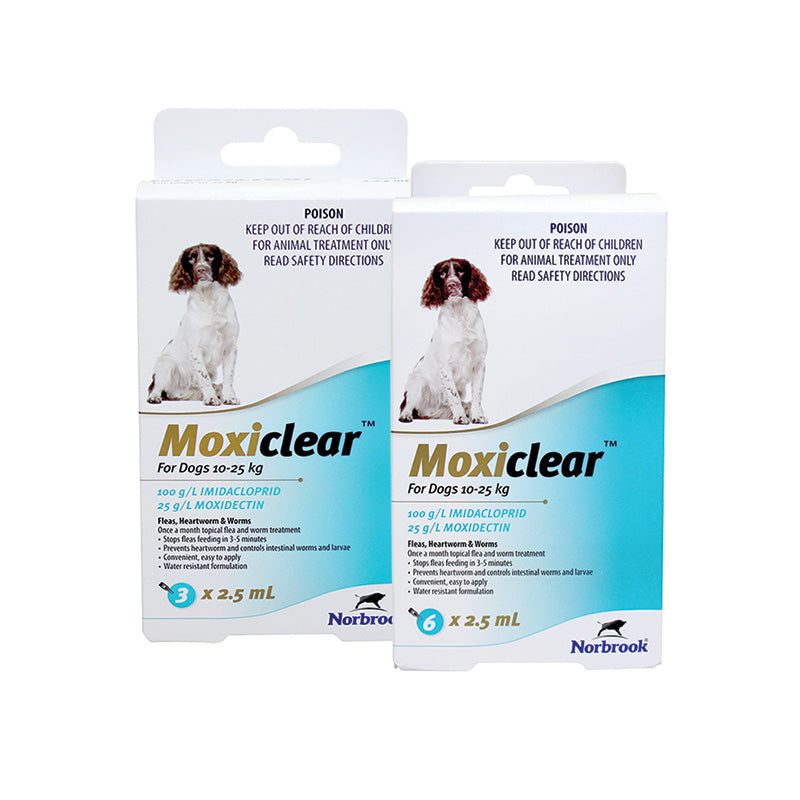 Moxiclear for Dogs 10-25kg