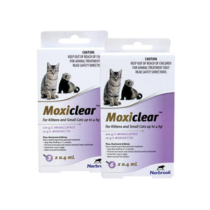 Moxiclear for Kittens & Small Cats up to 4kg