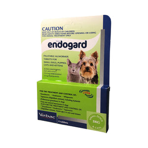 Endogard Palatable Allwormer Tablets - Small Dogs & Cats