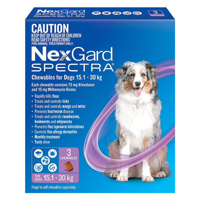 NexGard Spectra for Large Dogs 15.1-30kg