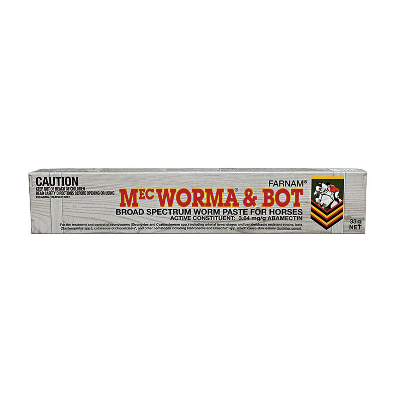 MecWorma & Bot Broad Spectrum Worm Paste for Horses 33g