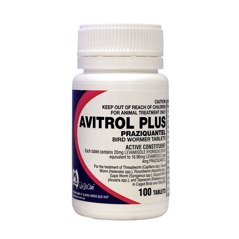 Avitrol Plus Bird Wormer Tablets