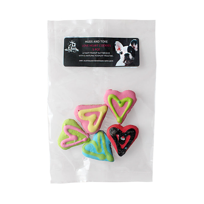 Huds & Toke Little Doggy Love Heart Cookies - 5pack