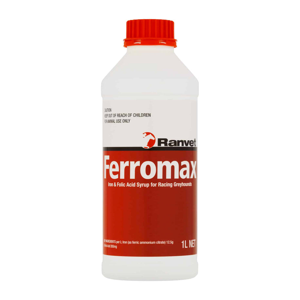 Ranvet Ferromax Iron Syrup for Racing Greyhounds 1L