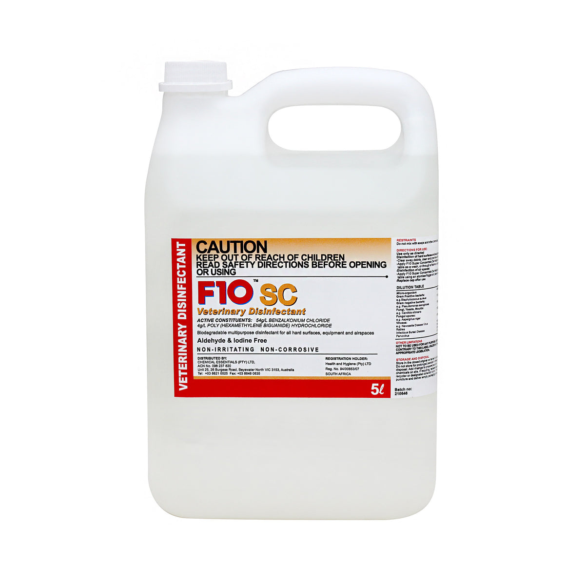 F10 SC Disinfectant 5L