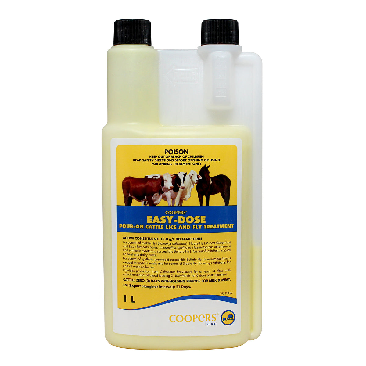 Coopers Easy Dose Cattle Lice & Fly Treatment 1L