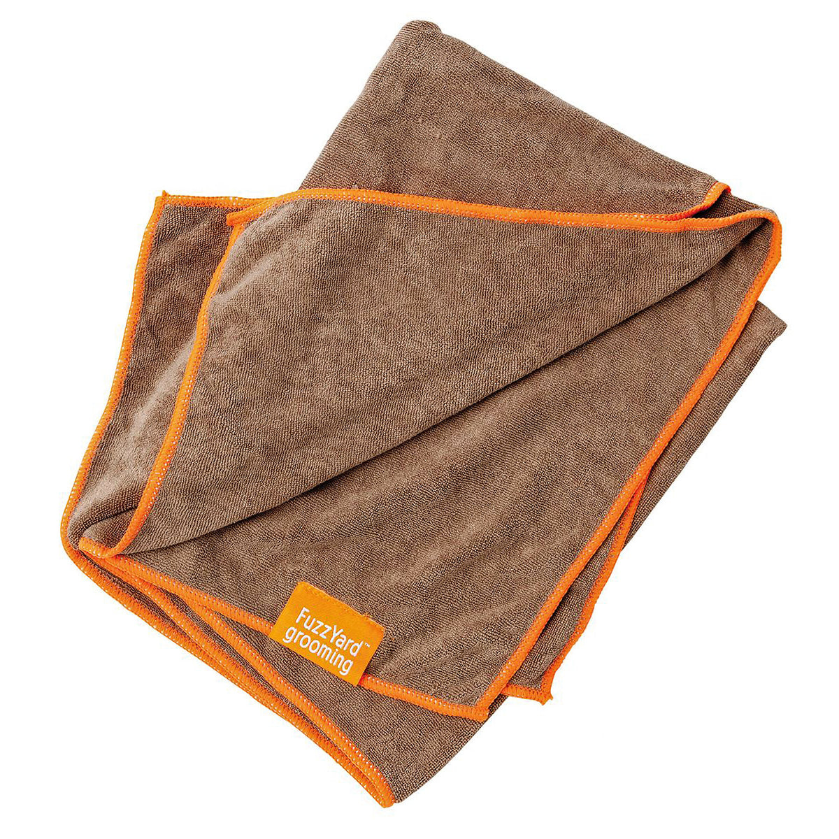 FuzzYard Microfibre Dog Drying Towel Brown