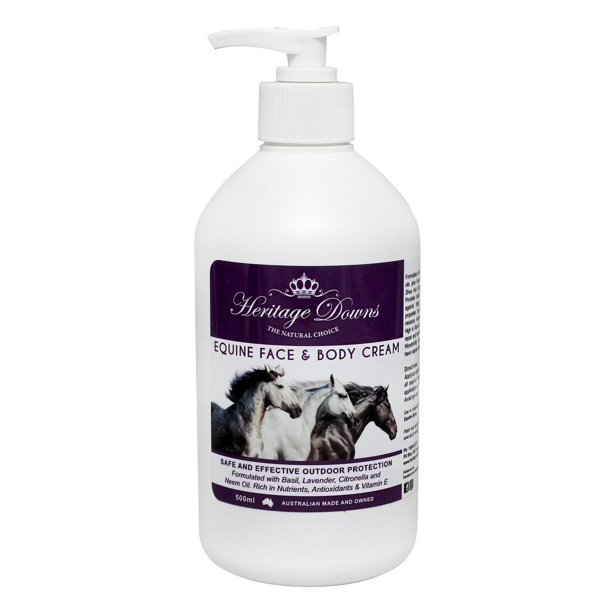 Heritage Downs Equine Face & Body Cream for Natural Insect Protection