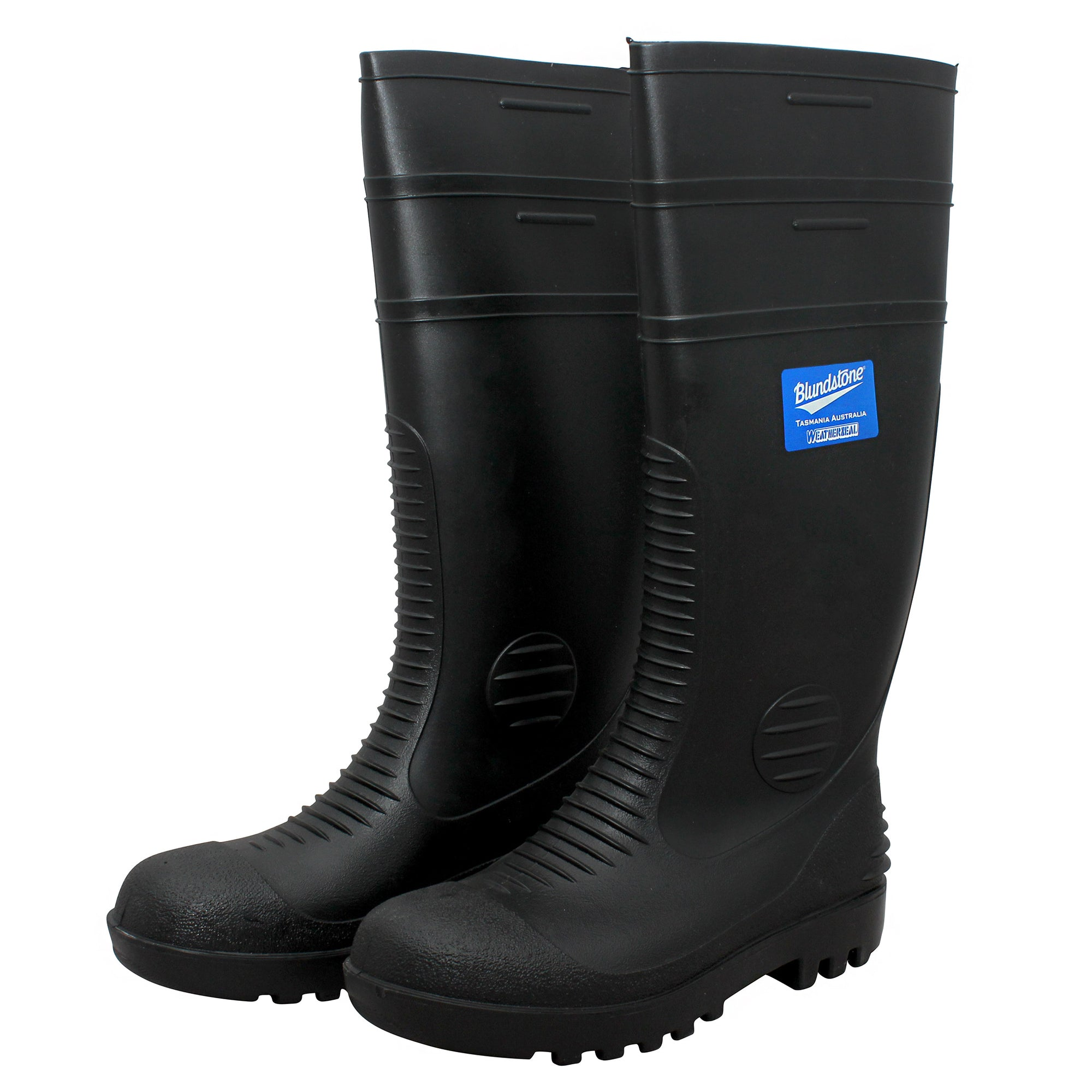 Blundstone Black Rubber Gumboots - Style 001