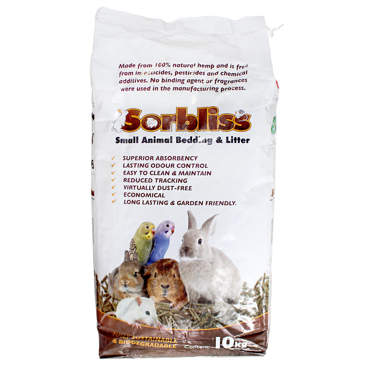 Sorbliss Hemp Pellet Small Animal Bedding & Litter 10kg