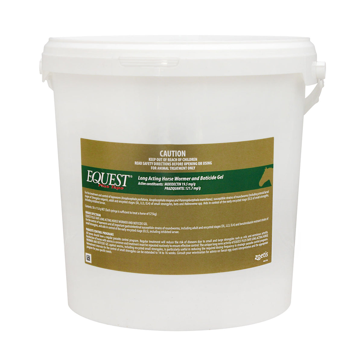Equest Plus Tape Long Acting Horse Wormer Stud Bucket 50 Tubes