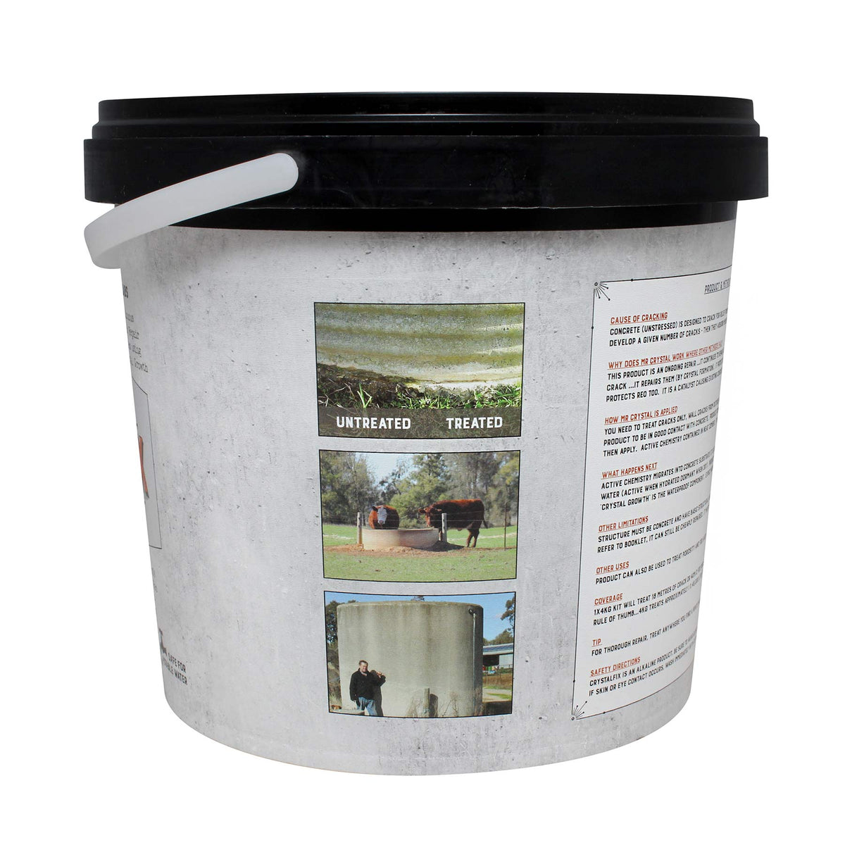 Mr Crystal Concrete Tank & Trough Repair Kit