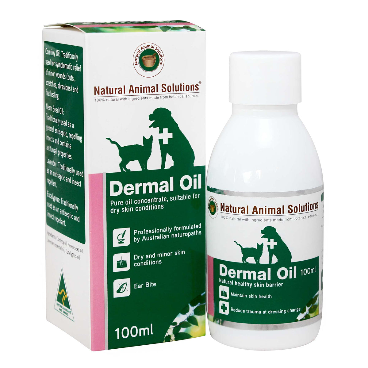 Natural Animal Solutions Dermal Oil Concentrate 100mL