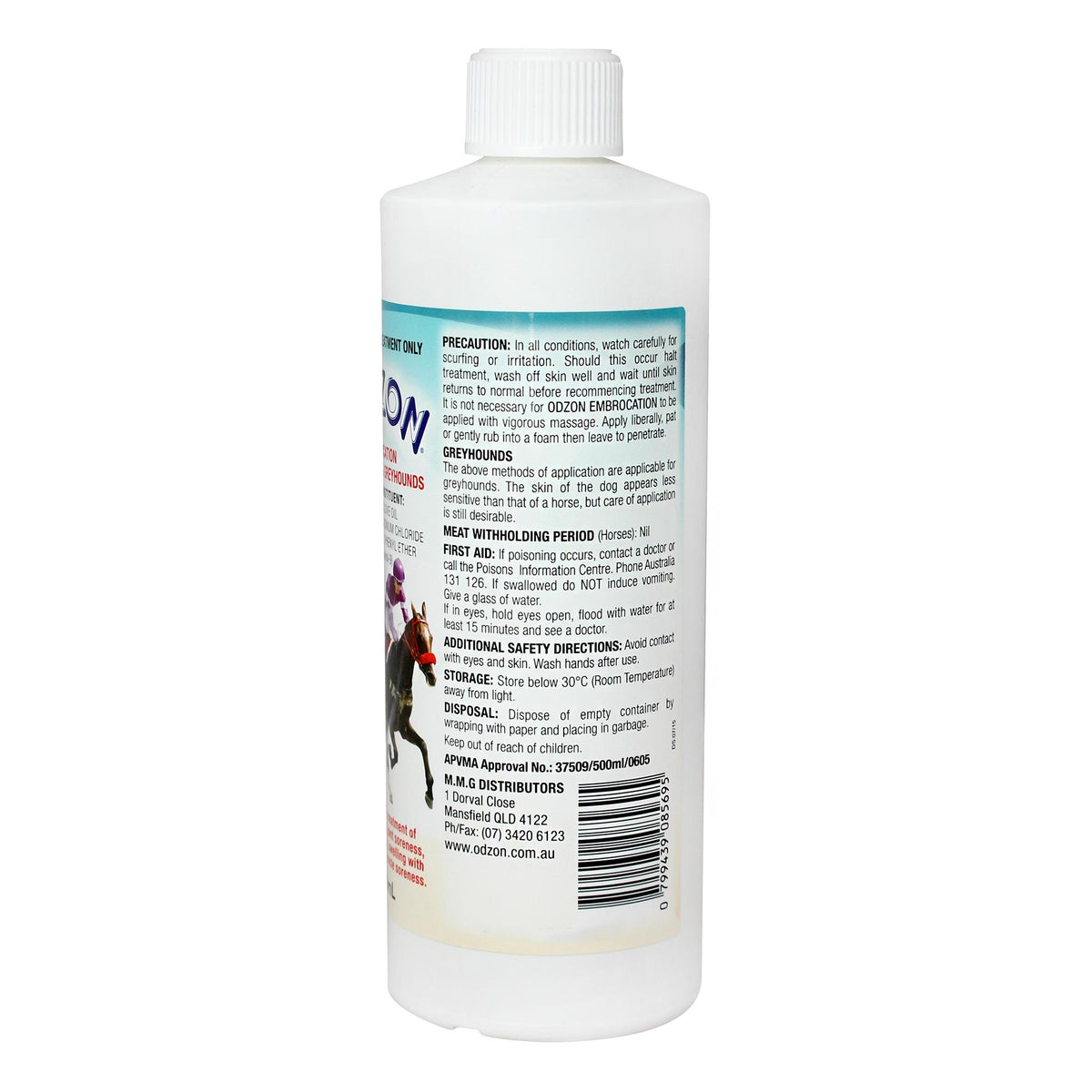 Odzon Embrocation for Horses & Greyhounds 500ml