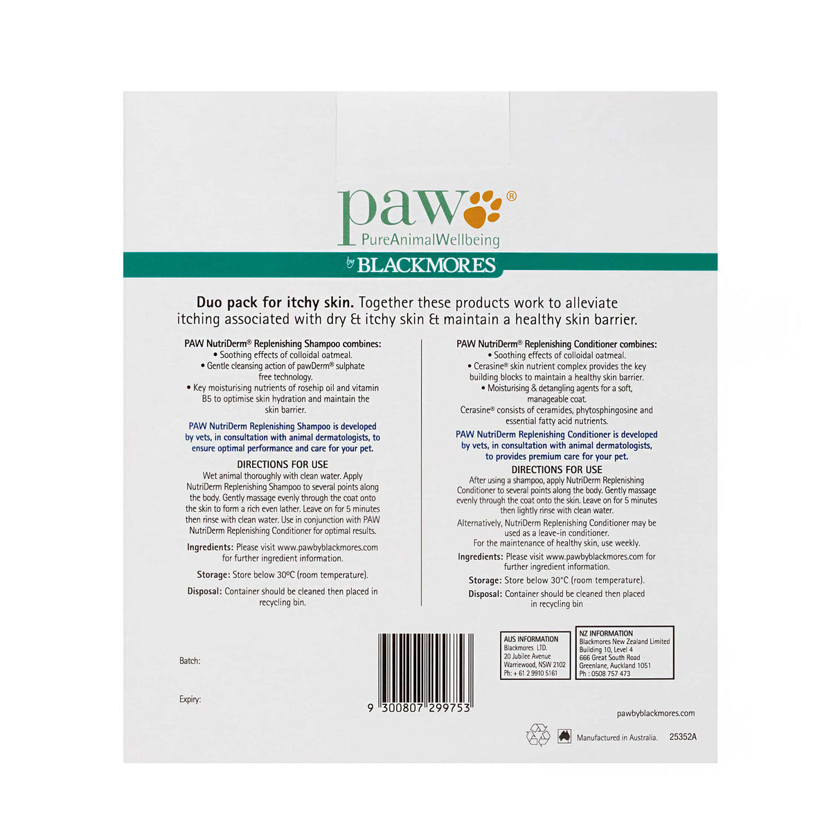 PAW Itchy Skin Duo Pack
