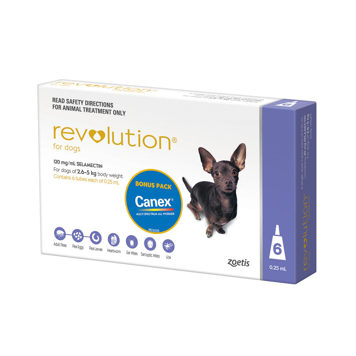 REVOLUTION Dog Purple 2.6-5kg