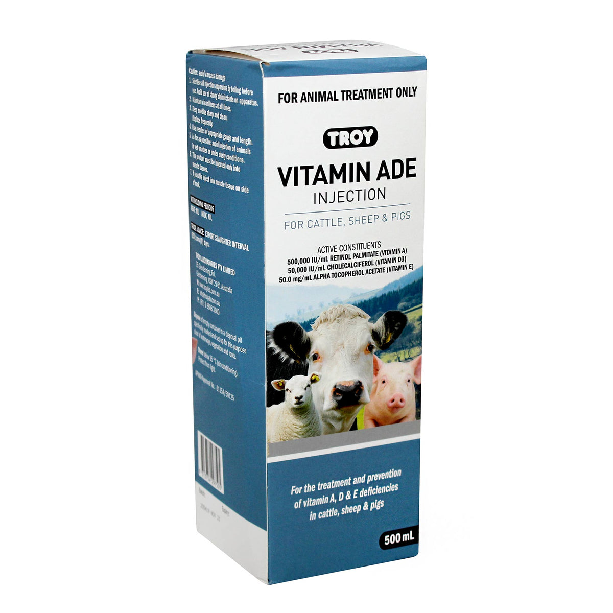 Troy Vitamin ADE Injection for Cattle, Sheep & Pigs