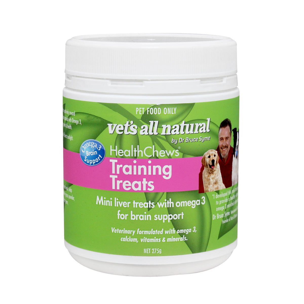 Vet's All Natural Mini Training Treats for Dogs & Puppies 275g