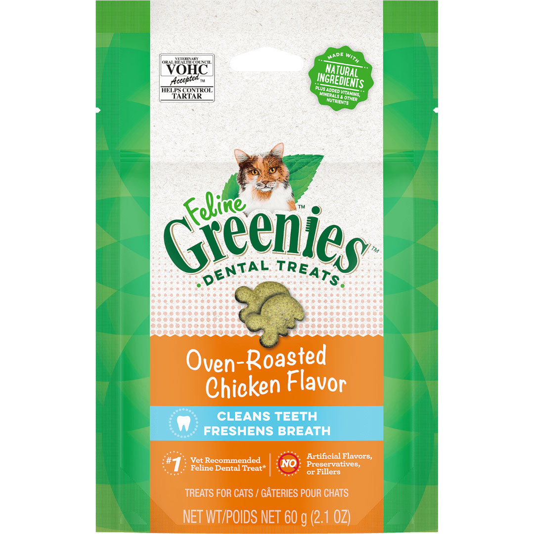 Feline Greenies Dental Treats for Cats 60g - Assorted Flavours