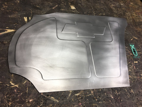 1973-1987 C-10 Chevy logo passenger panel