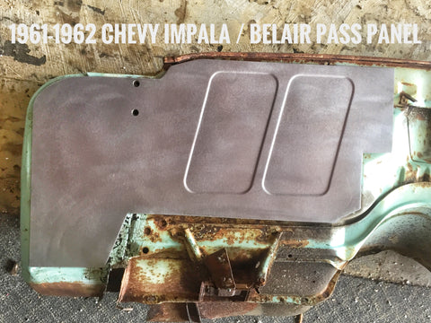 1961-1962 Chevy Impala / Belair passenger side firewall panel design #1