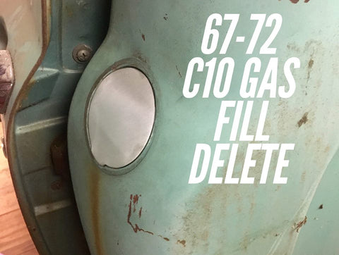 1967-1972 C-10 gas filler delete panel