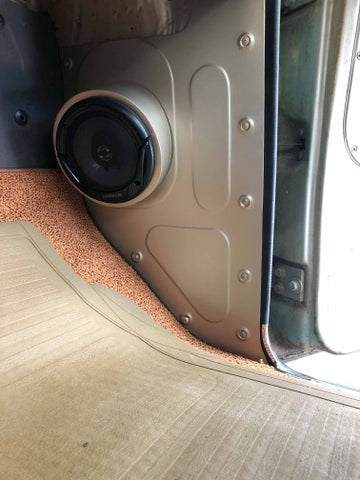 1960-1966 Chevrolet C-10 kick panels with speaker pods
