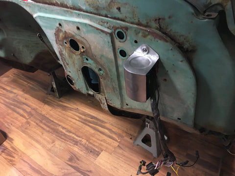 1960-1972 C-10 firewall wiring block cover