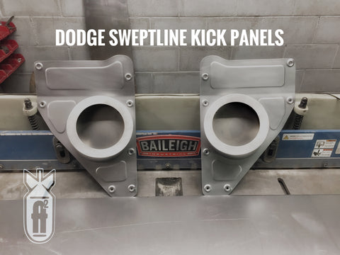 1962-1971 Dodge Sweptline kick panels with speaker pods