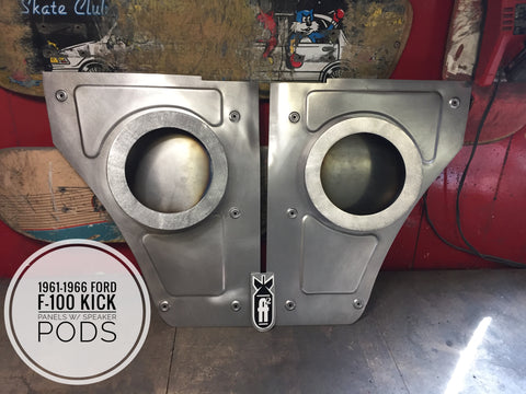 1961-1966 Ford F-100 kick panels w/ speaker pods