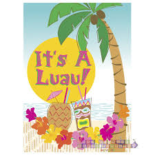 Luau Invitations, 8ct