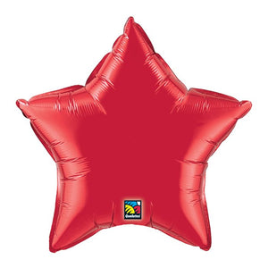 "20"" Ruby Red Star Foil Balloon.,. ,.,"