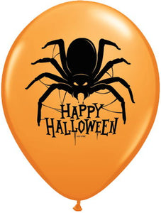"Happy Halloween Spider 11"" Latex Balloon"