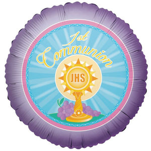 "18"" First Communion For All Foil Balloon"