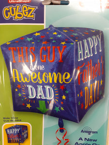 "18"" Happy Father's Day Cubez Foil Balloon"