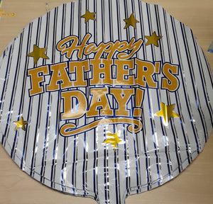 "18"" Happy Father's Day Stripes Foil Balloon"