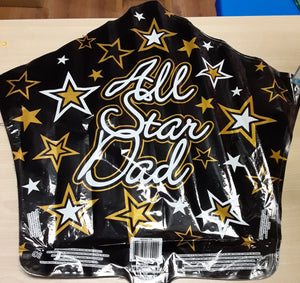 "18"" All Star Dad Foil Balloon"