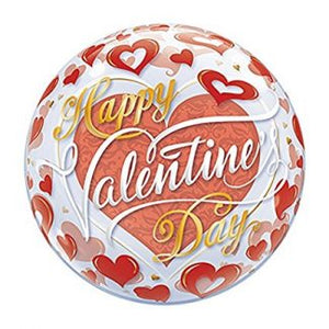 "15"" 'Happy Valentine's Day' Bubbles Foil Balloon"